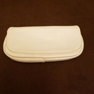Letisse Leather Clutch in White